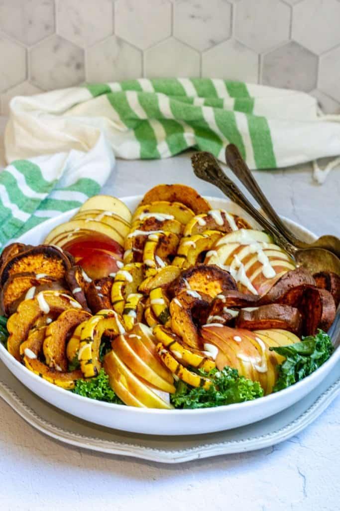 delicata squash salad in a bowl