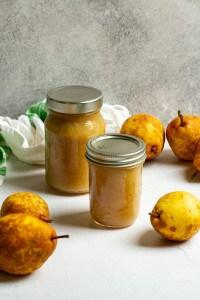 Pear Sauce in Glass Jars