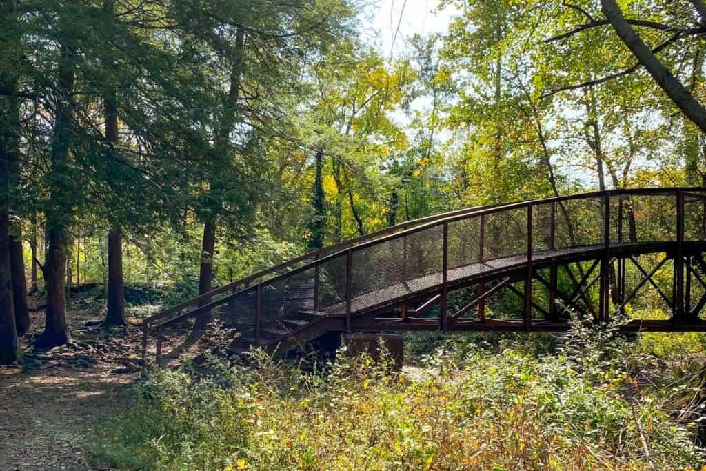 Metal Bridge Near Trailhead