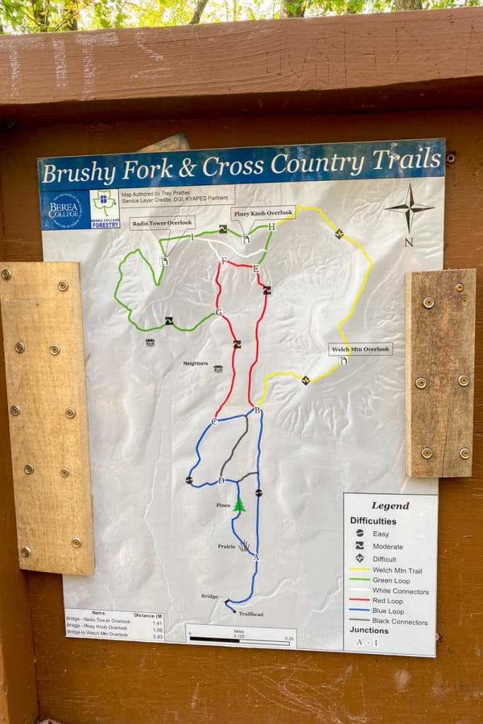 Trail Map for Welch Mountain