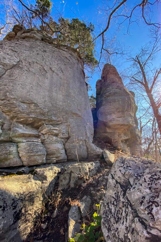 Head Through the Rock Formation