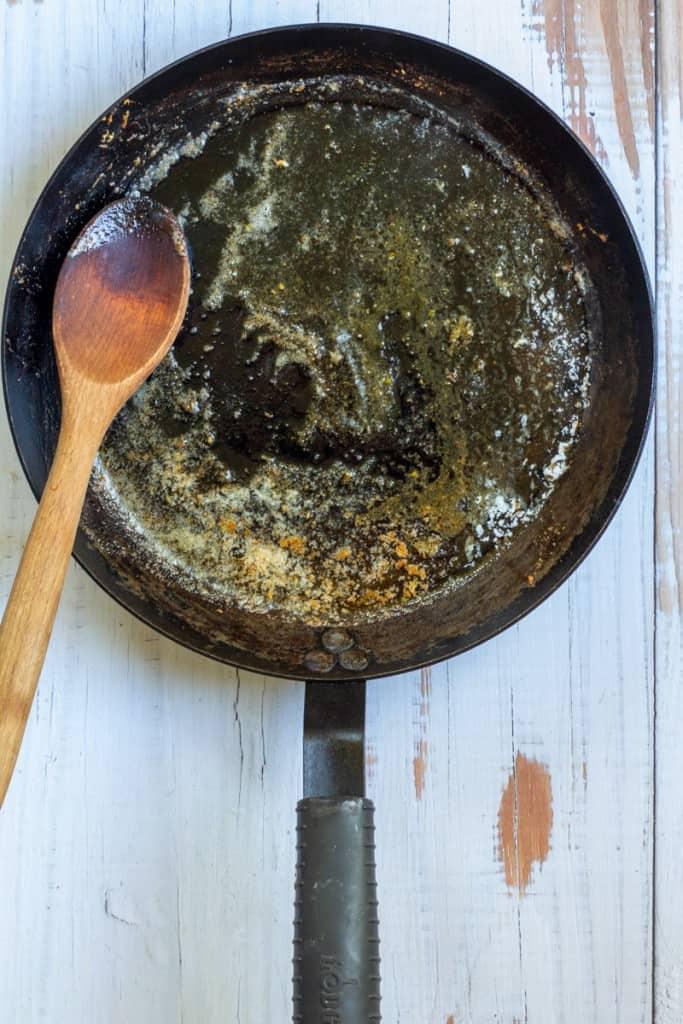 Add Butter + Lemon Juice to Pan