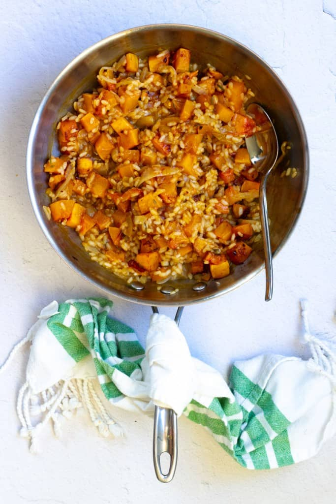 Toss Butternut Squash with Risotto