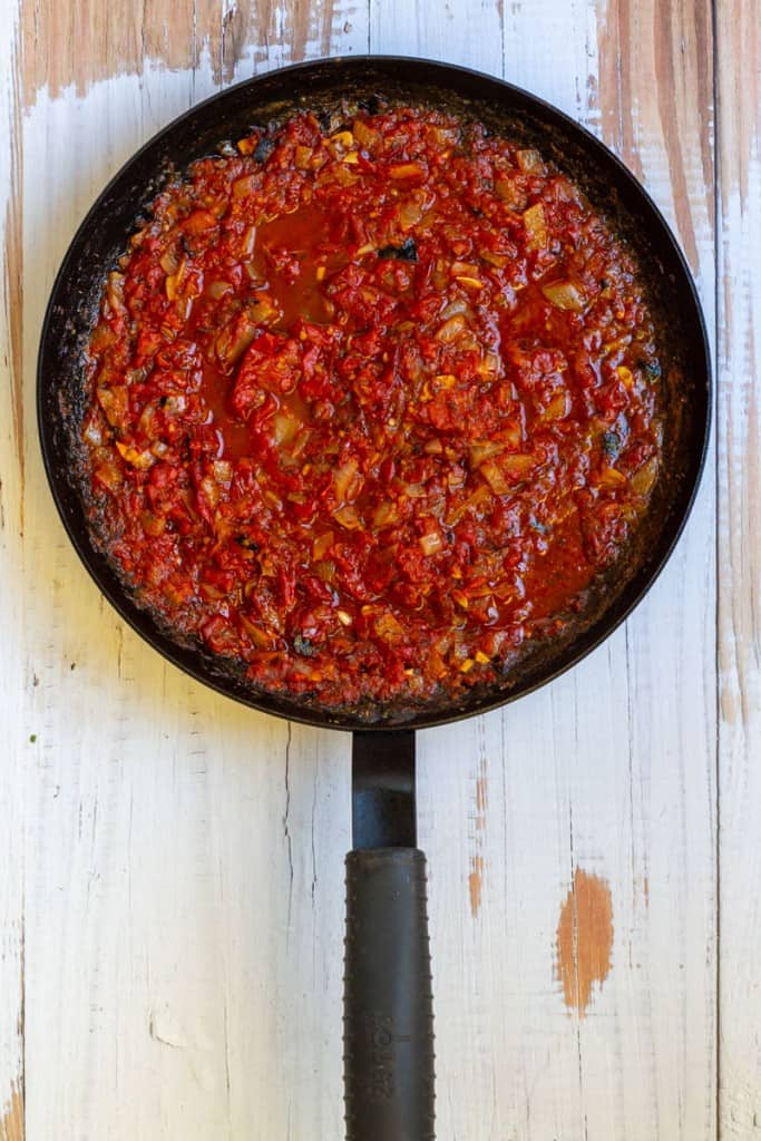 Simmer Fra Diavolo Sauce Until Thickened