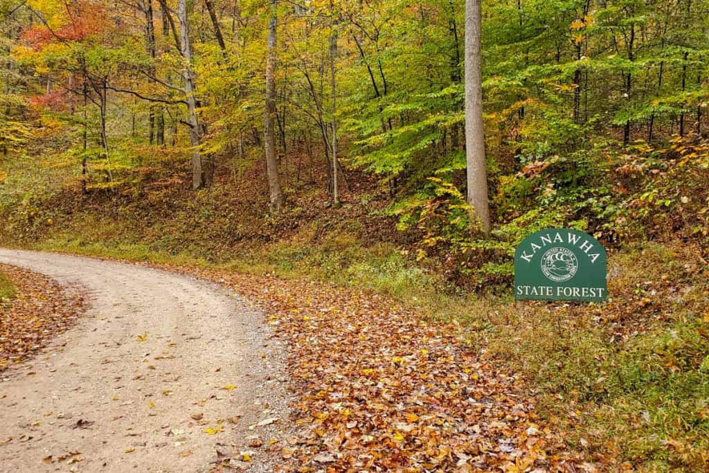 Kanawha State Forest Campground Entrance