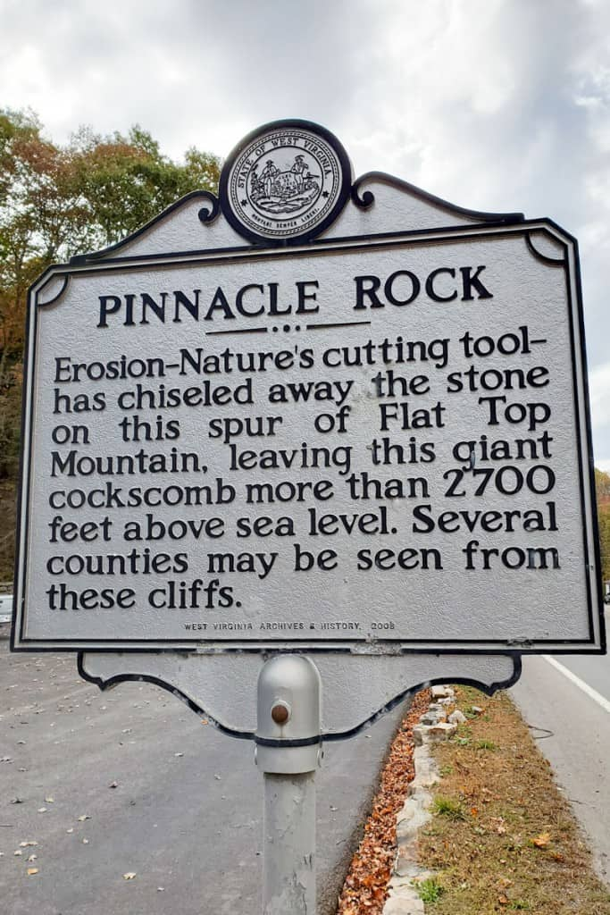 Pinnacle Rock State Park sign