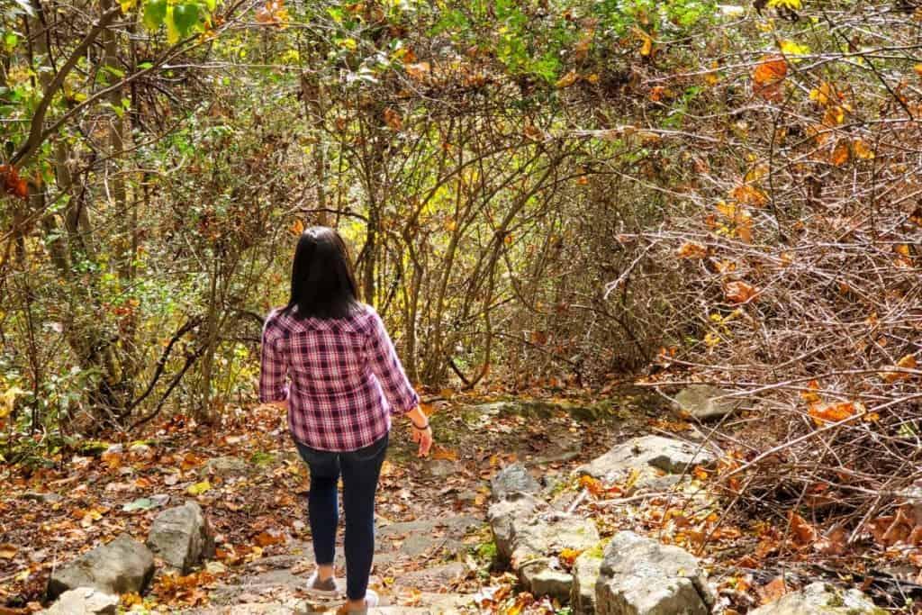 Hiking Falling Rock Trail