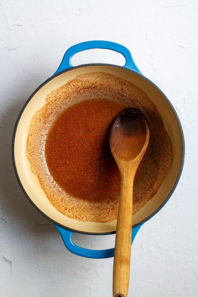 Melt Butter + Stir in Spices
