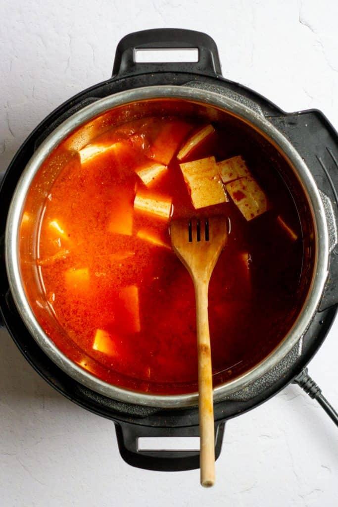 Pressure Cook + Then Add Tofu
