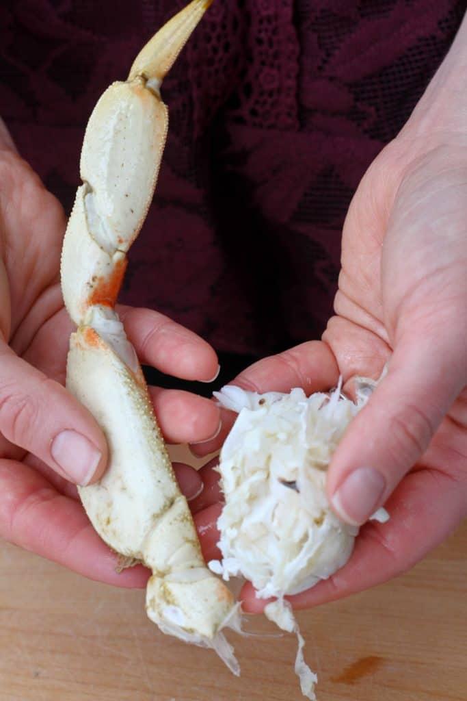 Break Crab Legs at Shoulder Joint