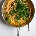 Add Spaghetti + Kale to Sauce