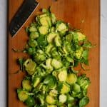 Thinly Slice Brussels Sprouts