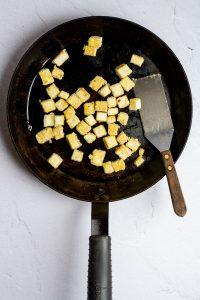Cook Tofu Until Toasted