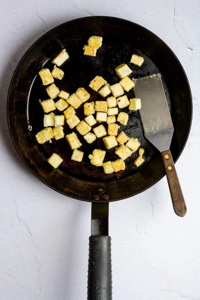 Cook Tofu Until Toasted