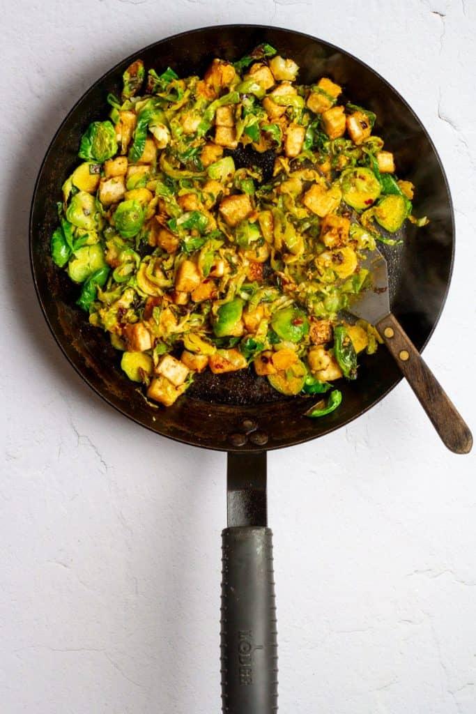 Add Tofu + Sauce to Pan