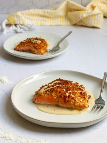 coconut salmon on a plates