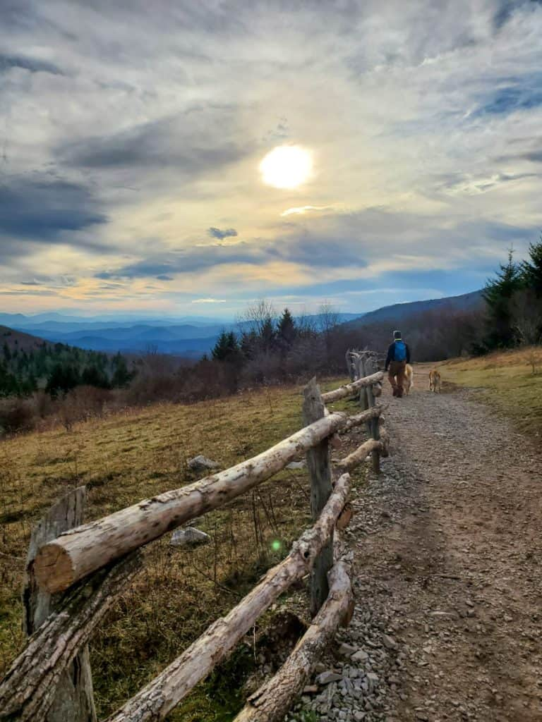 Hiking Trail in Grayson Highlands