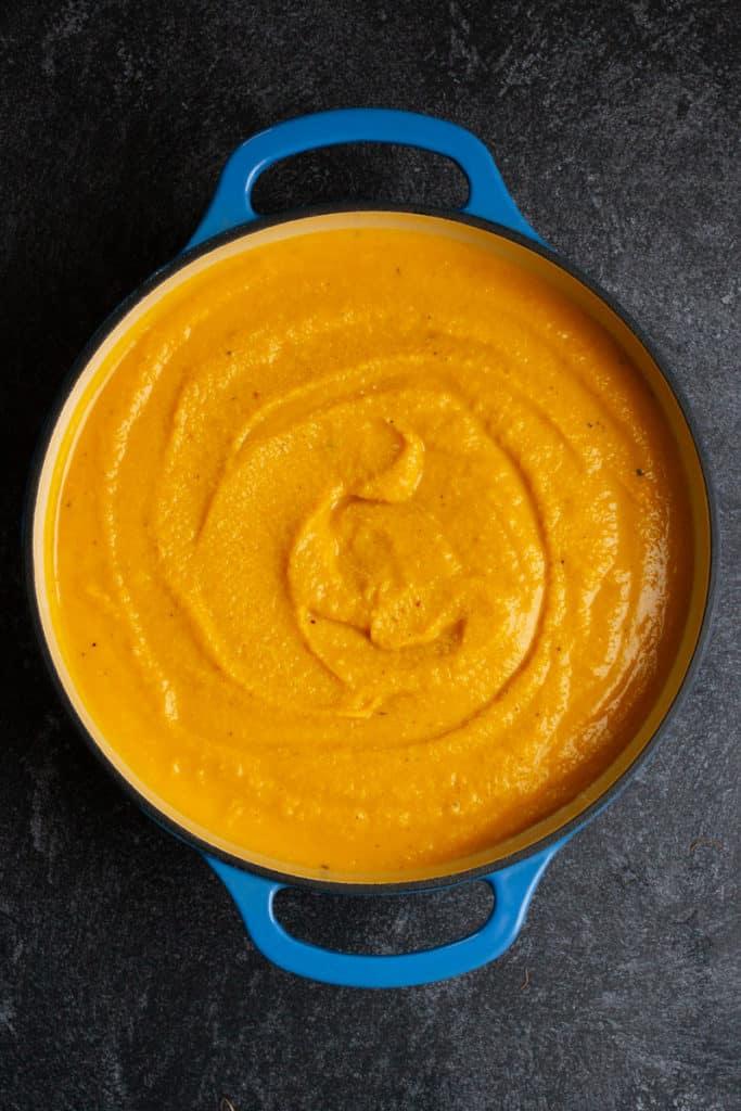 Warm Soup in Pot