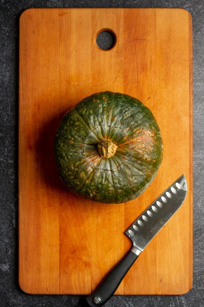 Score the Squash with a Knife + Microwave