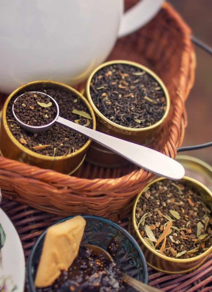 Scooping Loose Leaf Tea