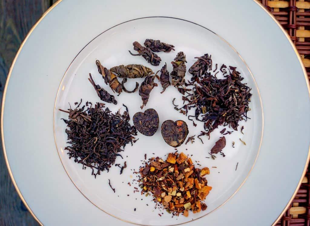 Various Types of Tea Leaves