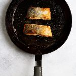 Flip Salmon and Finish Cooking