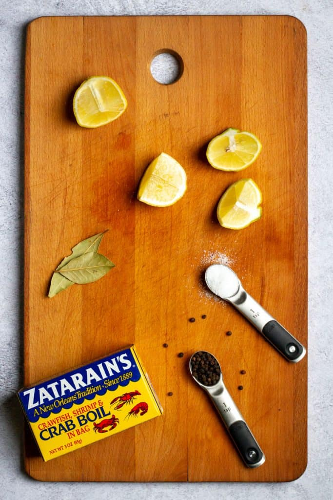 Add Lemon, Bay Leaves + Spices