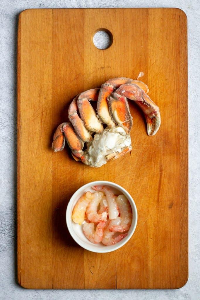 Add Crab + Shrimp