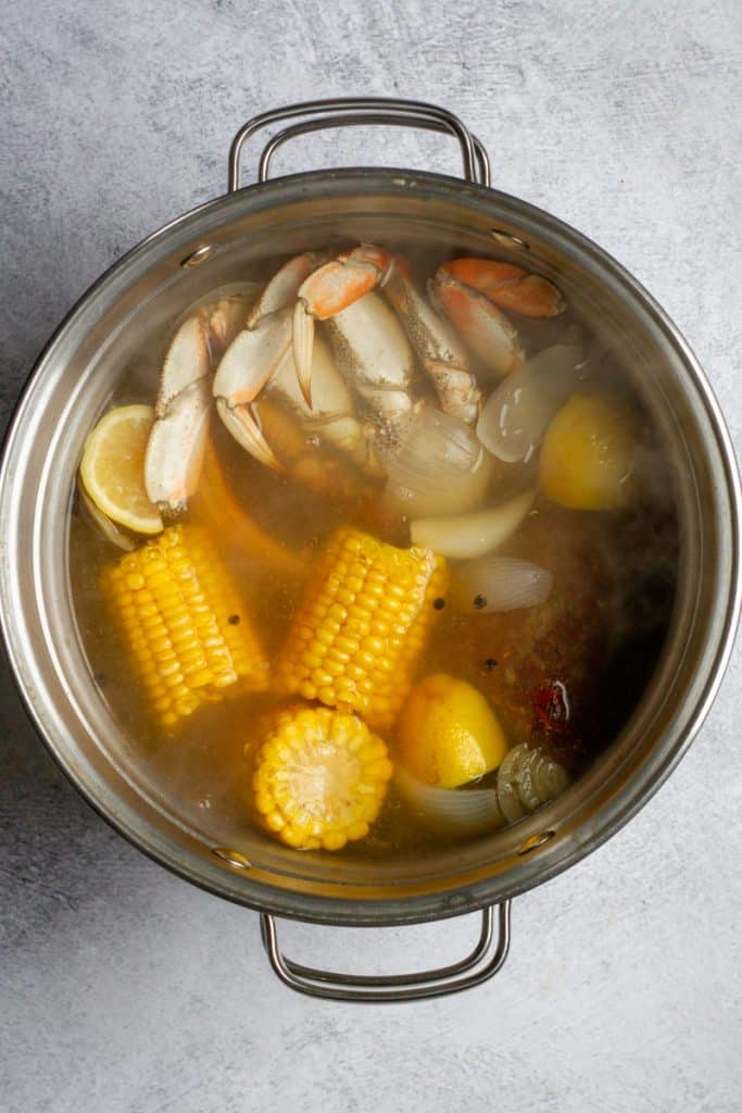 Boil Seafood for About 3 Minutes
