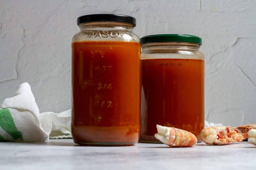 Shrimp Stock in Jars