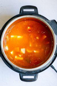 Add Tofu to Kimchi Soup