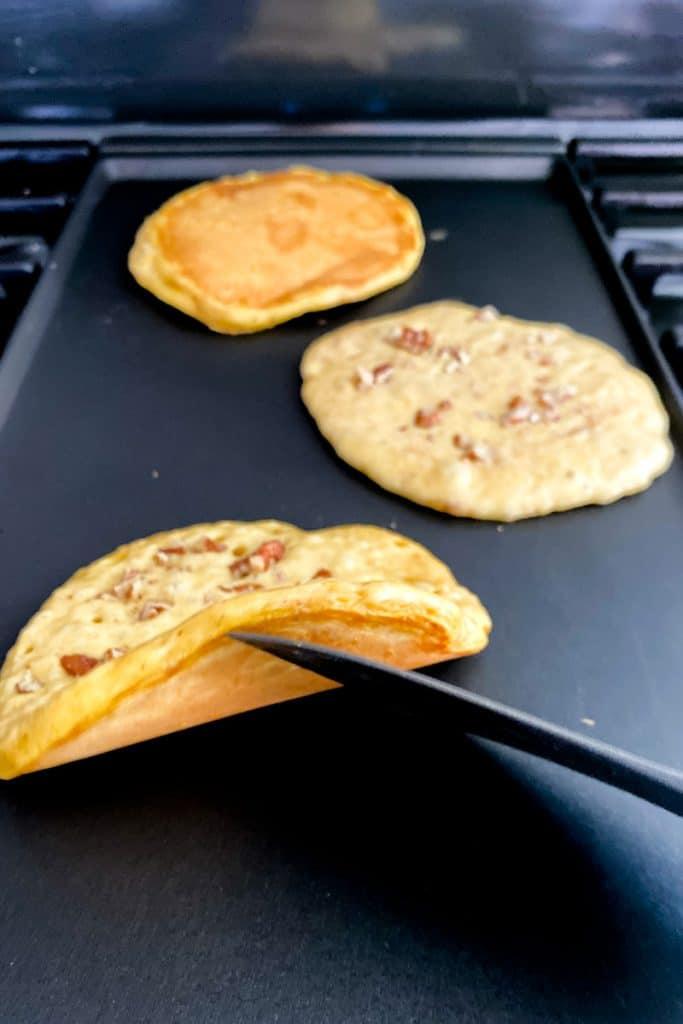 Flip Pancakes When Bottom is Golden