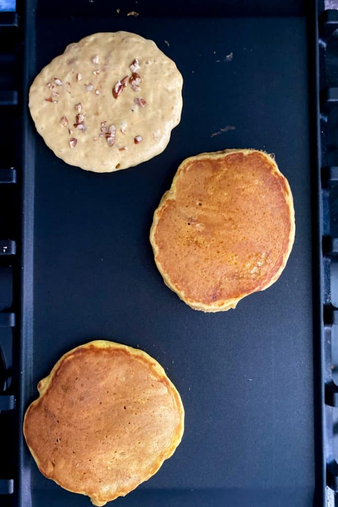 Add Batter to a Hot Griddle