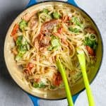 Toss Salmon with Pasta