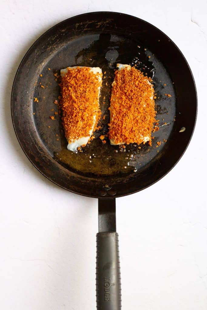 Top Cod with Breadcrumbs