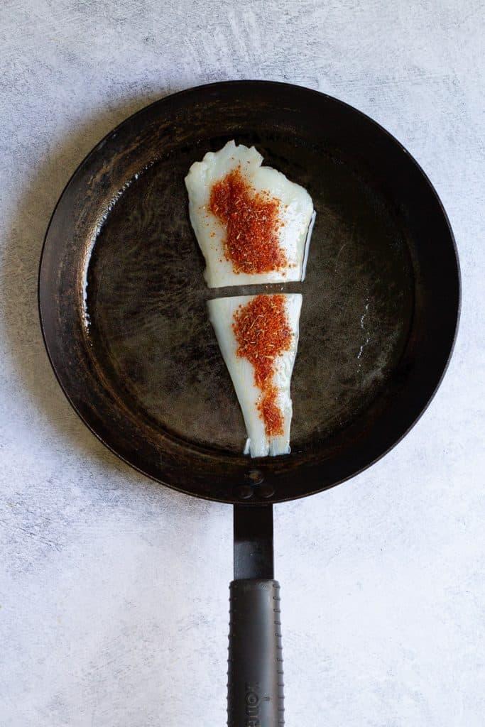 Add Seasoning to Cod