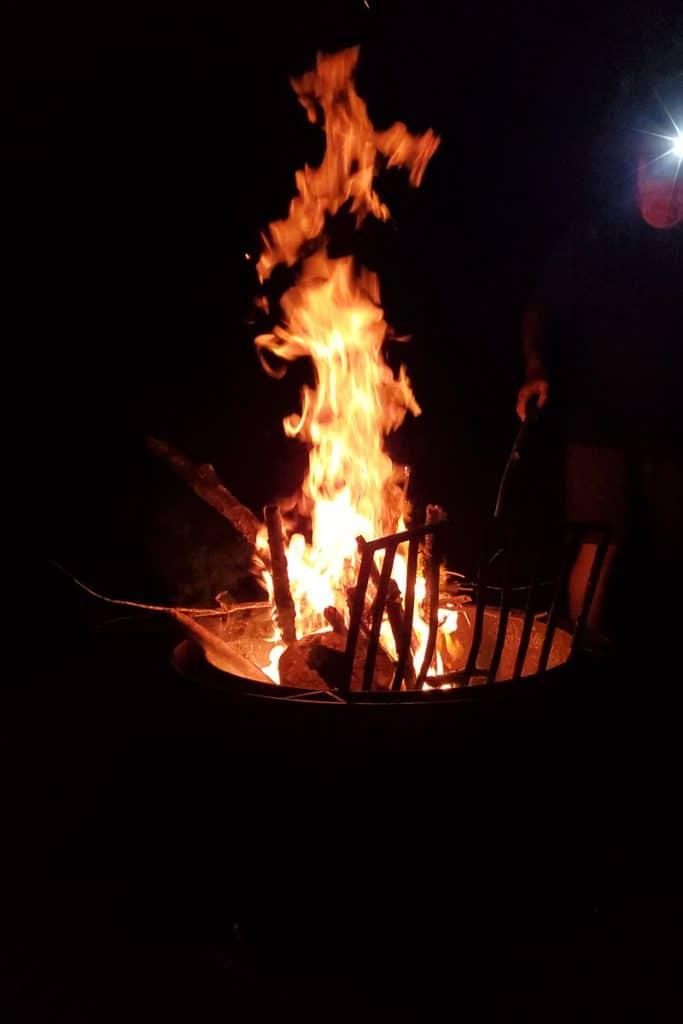 Campfire at night