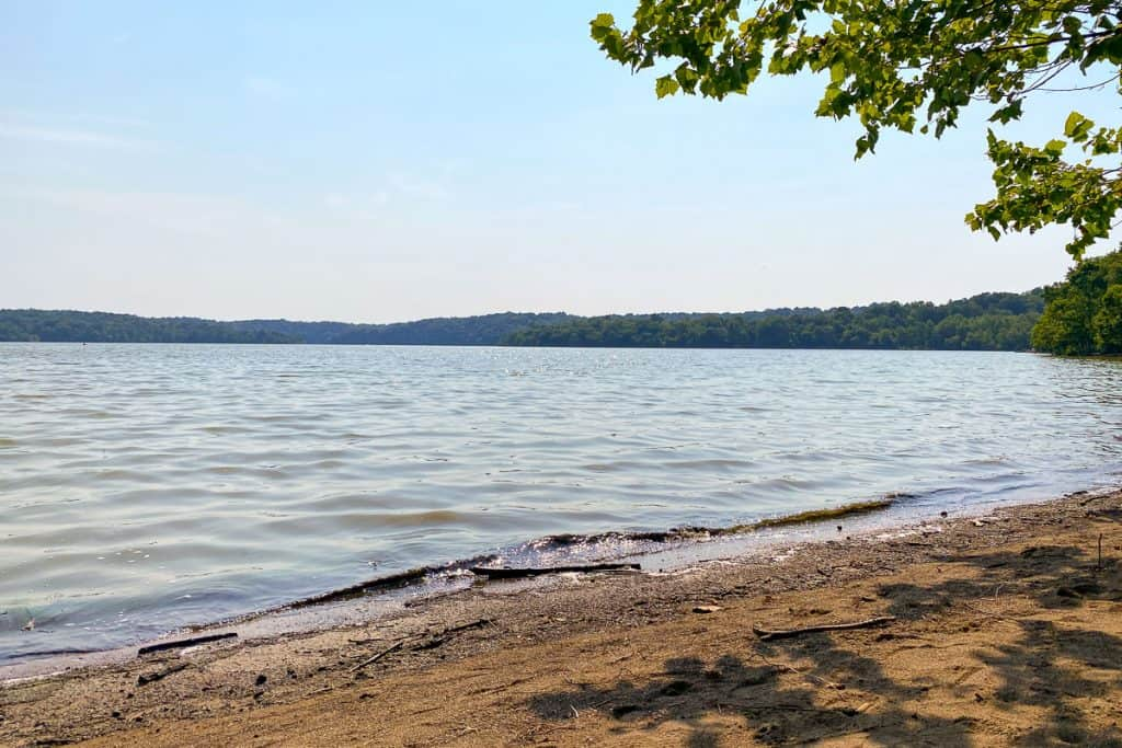 The Beach at East Fork Lake