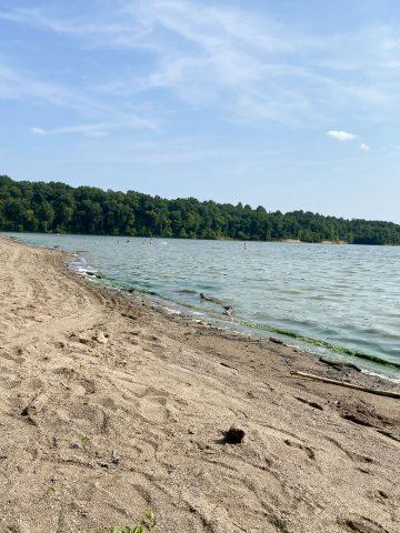 Beach at East Fork Lake