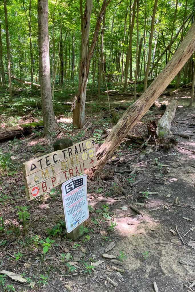 Trail Signs on the Mountain Biking Paths