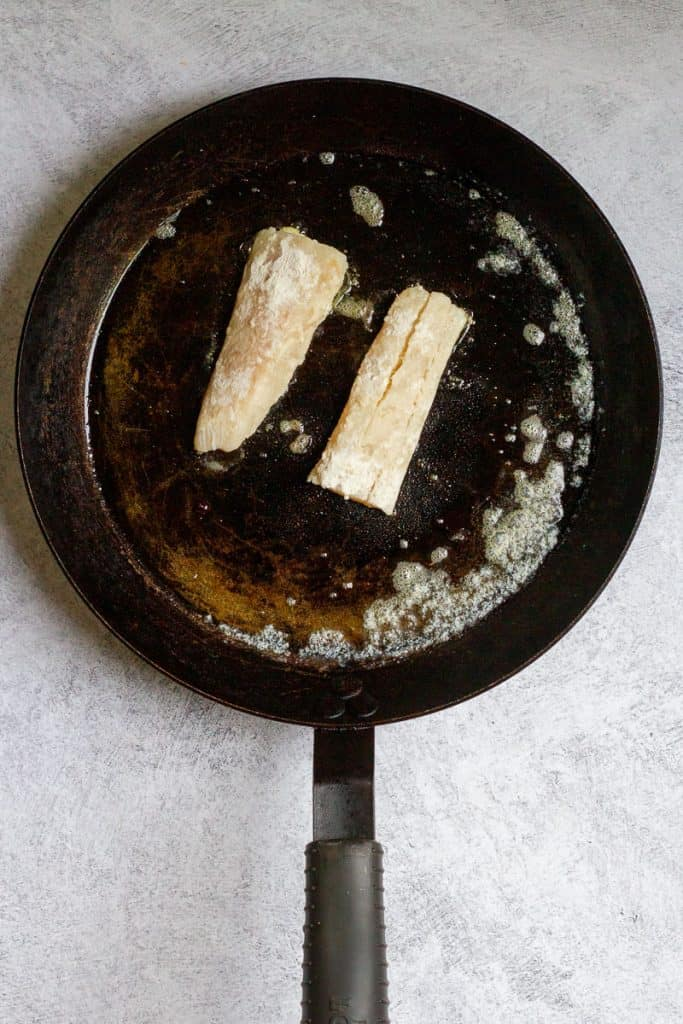 Place Fish in Hot Pan
