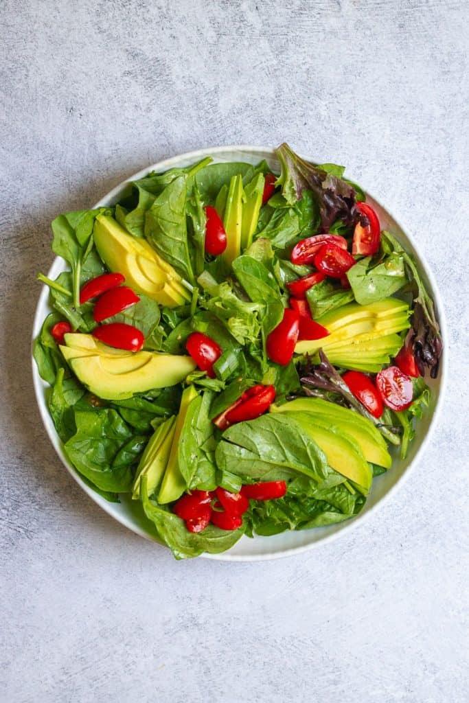 Add Tomatoes + Avocado to Salad.