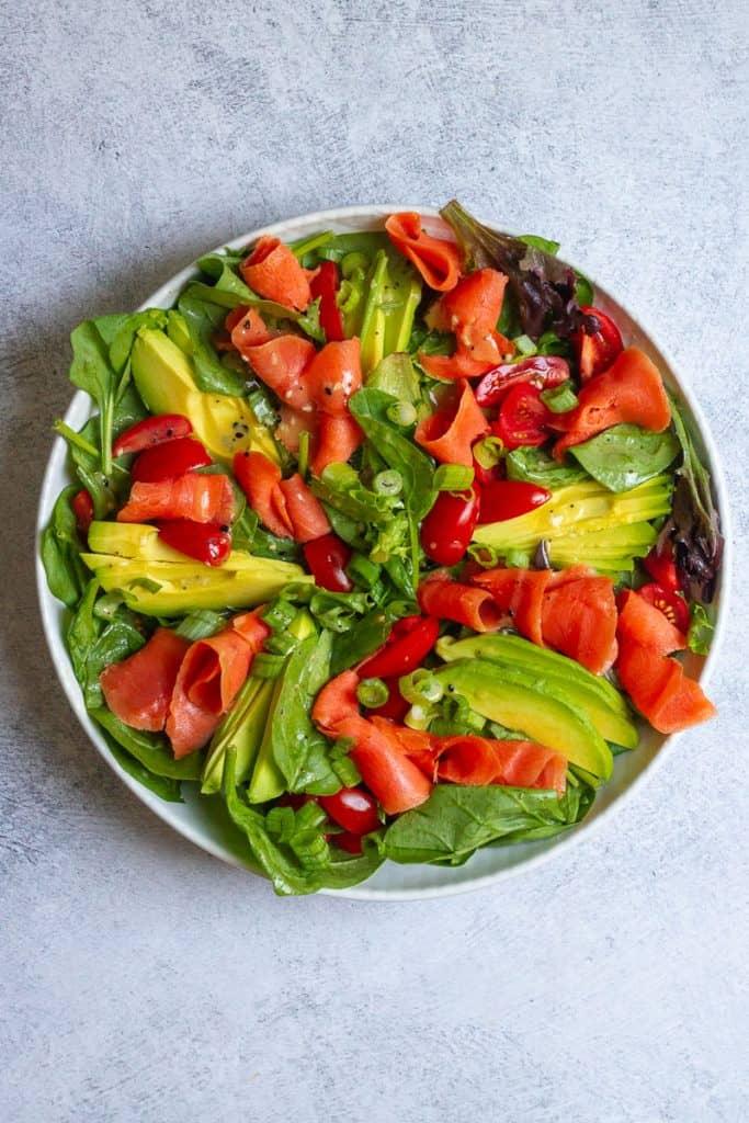 Add Smoked Salmon + Green Onion to Salad.