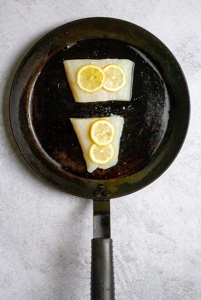 Top Halibut with Lemons