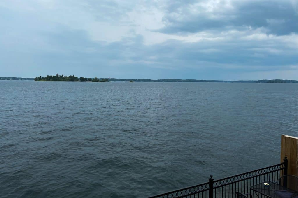 View from Bella's of St. Lawrence River in Thousand Islands Region of New York