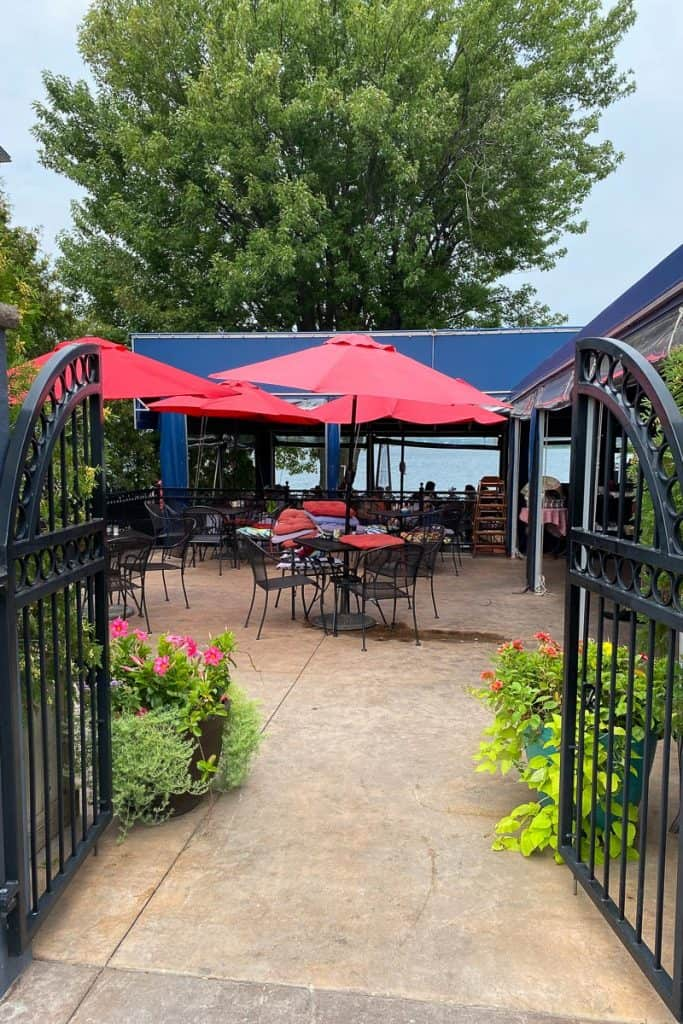 Outdoor dining area at Bella's, Thousand Islands/Clayton, NY