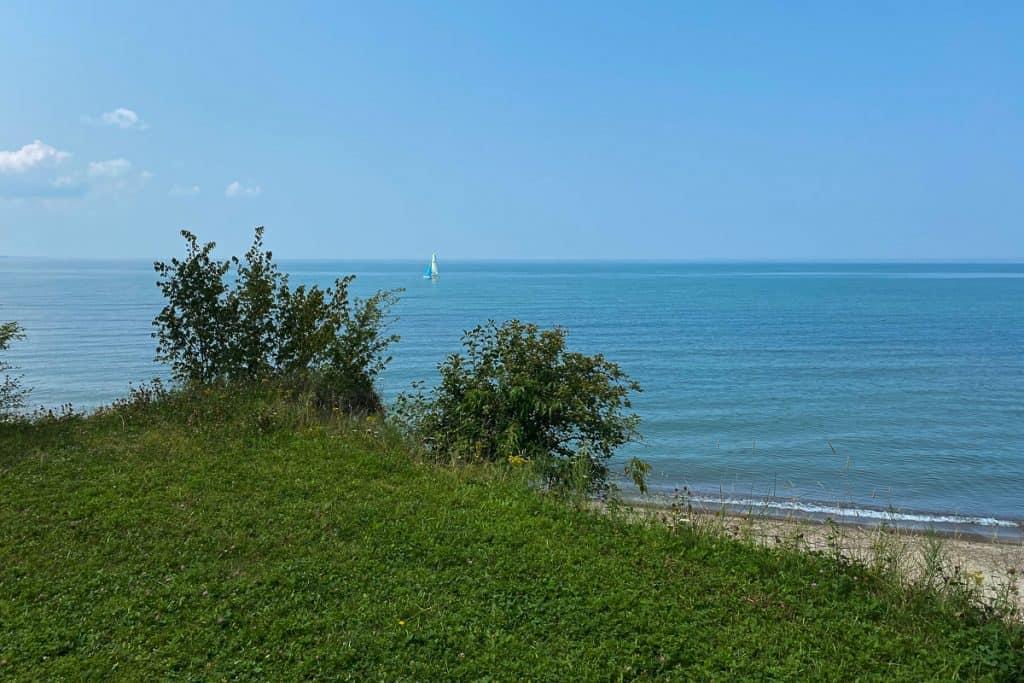Sailboat on Lake Erie