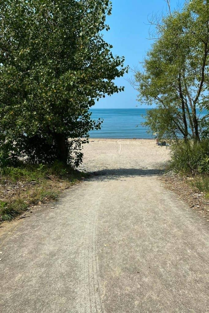 Sandy path to Evangola Beach
