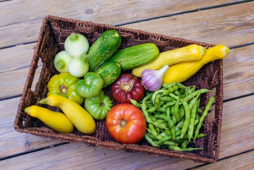 Farm CFA fresh produce in a basket