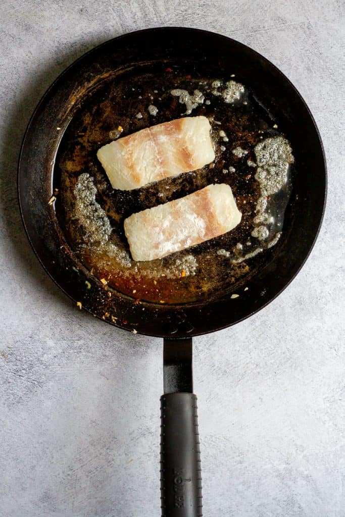 Add Fish to Hot Pan.